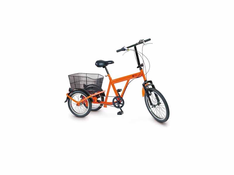 災害時用ノーパンク三輪自転車