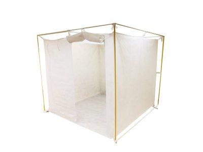コロナ避難所対策 スプリトップルーム (不織布製立体間仕切り)組立式 画像1