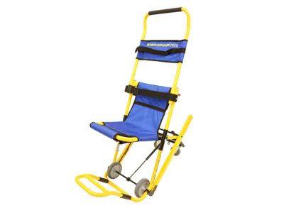 小回りが利くミニサイズ階段避難車 イーバック+チェアmini(専用スタンド付) 画像1