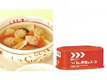 レスキューフーズ副食+スープつくねと野菜のスープ