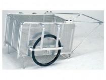 小回りが利くミニサイズ階段避難車 イーバック+チェアmini(専用スタンド付)