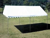 折りたたみ式スーパーキングテント 3間×4間 三方幕