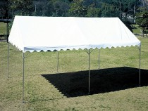 折りたたみ式スーパーキングテント 2間×4間 三方幕