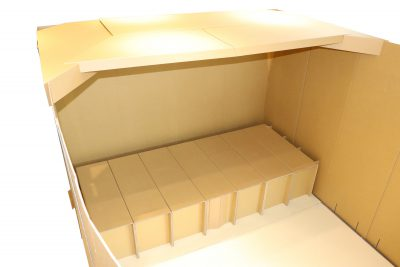 災害避難所用 段ボール簡易ベッド AK-151 画像1